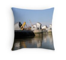 Thames Barrier 9 Throw Pillow