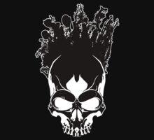 Art On The Skull - Black on White Kids Tee