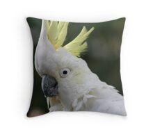 Captain the cocky Cockatoo Throw Pillow