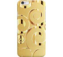Swirly Moon Gold iPhone Case/Skin