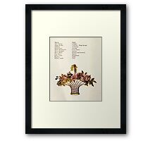 Language of Flowers Kate Greenaway 1884 0022 Descriptions of Specific Flower Significations Framed Print
