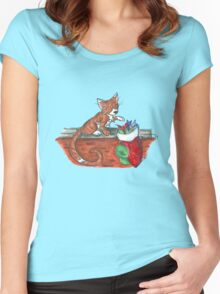 Catnip Christmas Women's Fitted Scoop T-Shirt