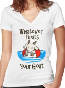 Whatever Floats Your Goat Women's Fitted V-Neck T-Shirt