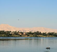 West bank of the Nile south of Luxor 3 by rhallam