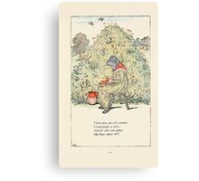 Mother Goose or the Old Nursery Rhymes by Kate Greenaway 1881 0015 There Was an Old Woman Lived Under a Hill Canvas Print