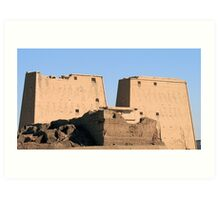 Edfu Temple 2 Art Print