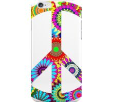 Cool Retro Flowers Peace Sign - T-Shirt and Stickers iPhone Case/Skin