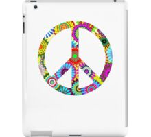Cool Retro Flowers Peace Sign - T-Shirt and Stickers iPad Case/Skin