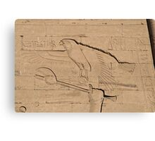 Eagle Hieroglyph Canvas Print