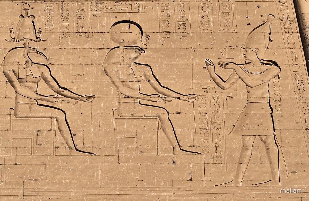 Horus god hieroglyph by rhallam