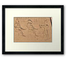 Horus god hieroglyph Framed Print