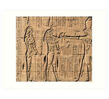 Edfu Temple hieroglyphs 2 Art Print