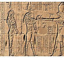 Edfu Temple hieroglyphs 2 Photographic Print