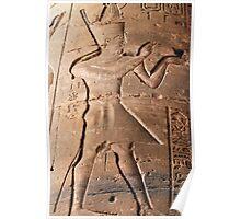 Pharaoh hieroglyph Poster