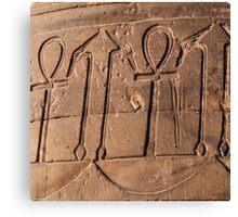 Ankh symbol hieroglyph Canvas Print