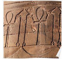 Ankh symbol hieroglyph Poster