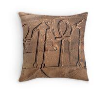 Ankh symbol hieroglyph Throw Pillow
