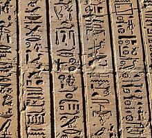 Columns of hieroglyphs by rhallam