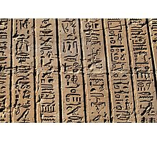 Columns of hieroglyphs Photographic Print