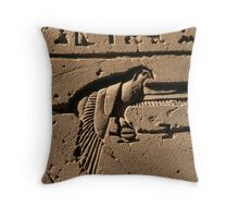 Bird hieroglyph 2 Throw Pillow