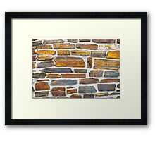 Bricks with white mortar Framed Print