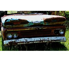 Chevy Apache - Grille and Headlights Photographic Print