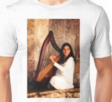 Angel Playing Harp Unisex T-Shirt
