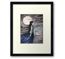 """""""Night of the Wolf"""" Gothic Fantasy Art by Molly Harrison Framed Print"""