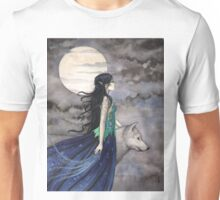 """Night of the Wolf"" Gothic Fantasy Art by Molly Harrison Unisex T-Shirt"