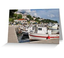 Brela harbour, Croatia Greeting Card