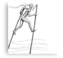 The Man On Stilts Canvas Print