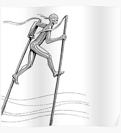 The Man On Stilts Poster