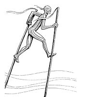 The Man On Stilts Photographic Print