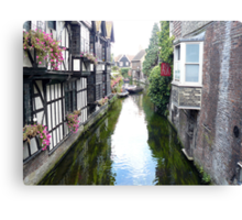 Canterbury Canal & dunking witches stories  Canvas Print