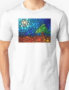 A Day To Remember - Colorful Mosaic Landscape By Sharon Cummings T-Shirt