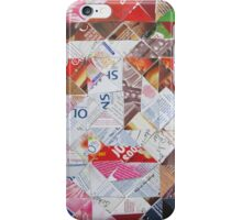 Mad Hatter in diagonal pattern iPhone Case/Skin