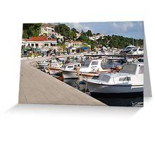 Boats at Brela, Croatia Greeting Card