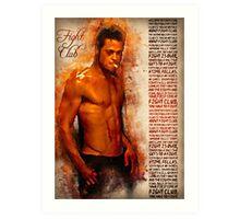Fight Club - alternative art poster Art Print