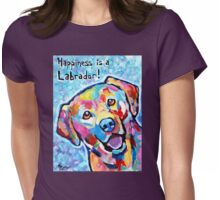 Happiness is a Labrador Womens Fitted T-Shirt