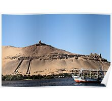 Temple on banks of River Nile 2 Poster