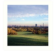 View over London from Primrose Hill Art Print