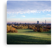 View over London from Primrose Hill Canvas Print