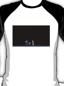 Calvin and Hobbes meets Police Box Stary Night T-Shirt