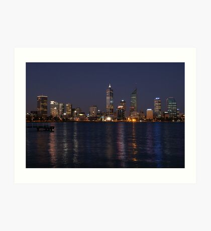 Perth City on Dusk ~ Western Australia Art Print