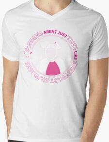 Bunnies Aren't Just Cute Like Everybody Supposes Mens V-Neck T-Shirt