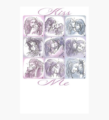 Kissing Challenge Photographic Print