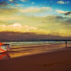 Kite Surfer at sunset by TMphotography