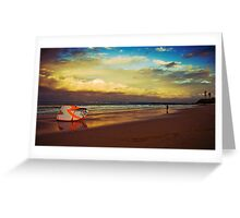 Kite Surfer at sunset Greeting Card