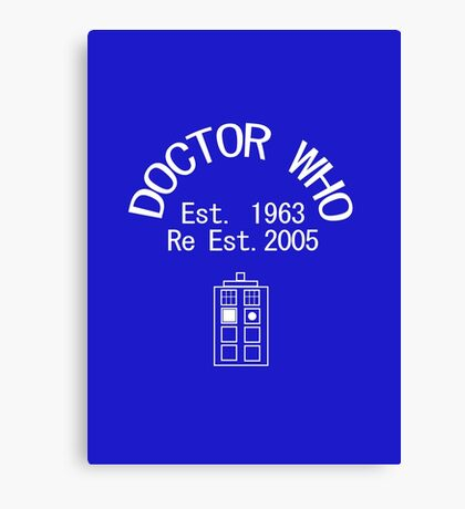 Doctor Who - Anniversary Design Canvas Print