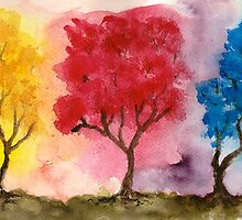 Three Trees by Jen Hallbrown